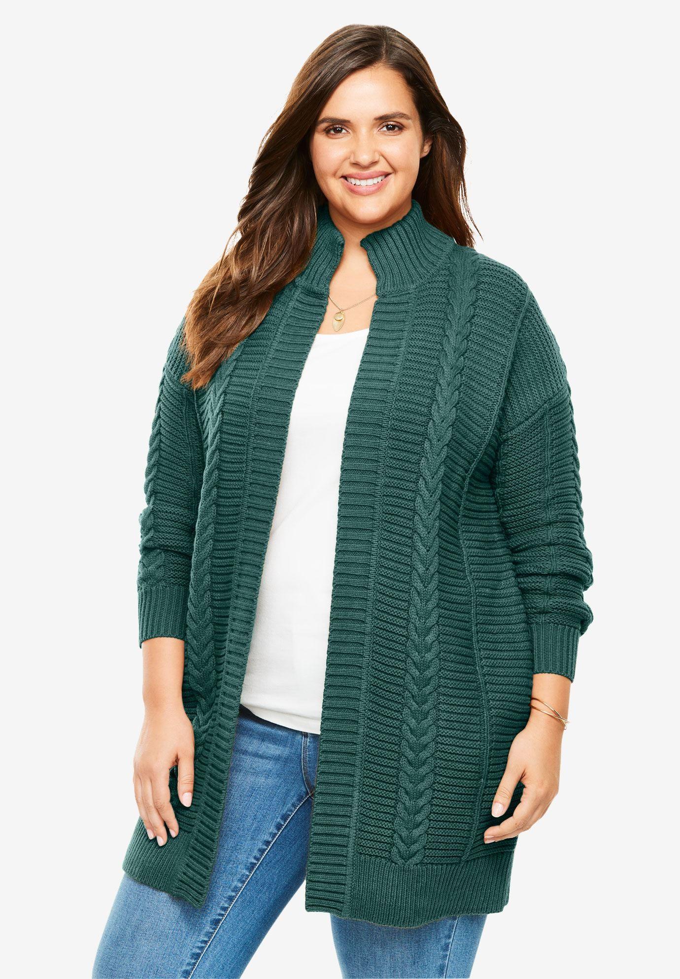 0754b6f10f5 Chunky Knit Cardigan - Women s Plus Size Clothing