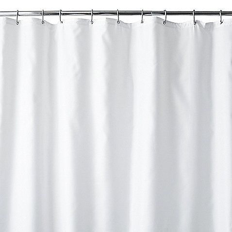 Hotel Fabric 96 Inch X 72 Inch Shower Curtain Liner In White With