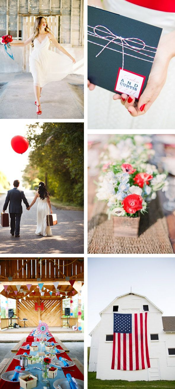 4th Of July Weddings Fourth Of July Wedding Ideas.... But I Like