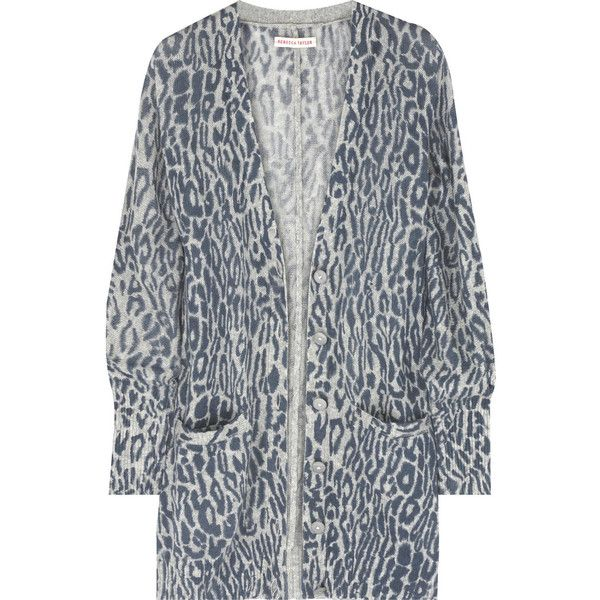 Rebecca Taylor Leopard-print cashmere cardigan (€305) ❤ liked on ...
