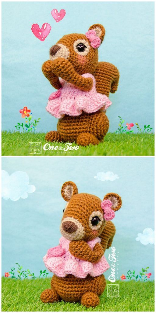 Crochet squirrel amigurumi plush free pattern – Free Amigurumi Patterns #freeamigurumipatterns
