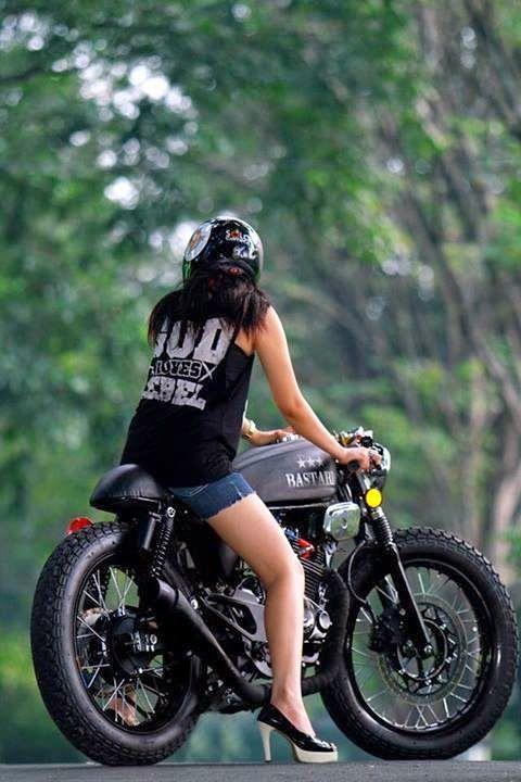 Gambar Modif Honda Tiger Tangki Gl100 Cafe Racer Bike Life