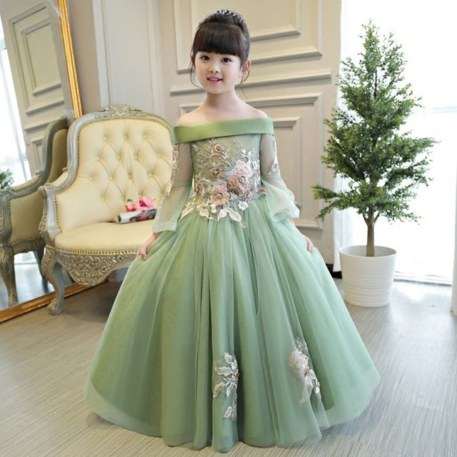 19444a127 Product   1 in 2019   Princes dress, Baby dress, Kids gown