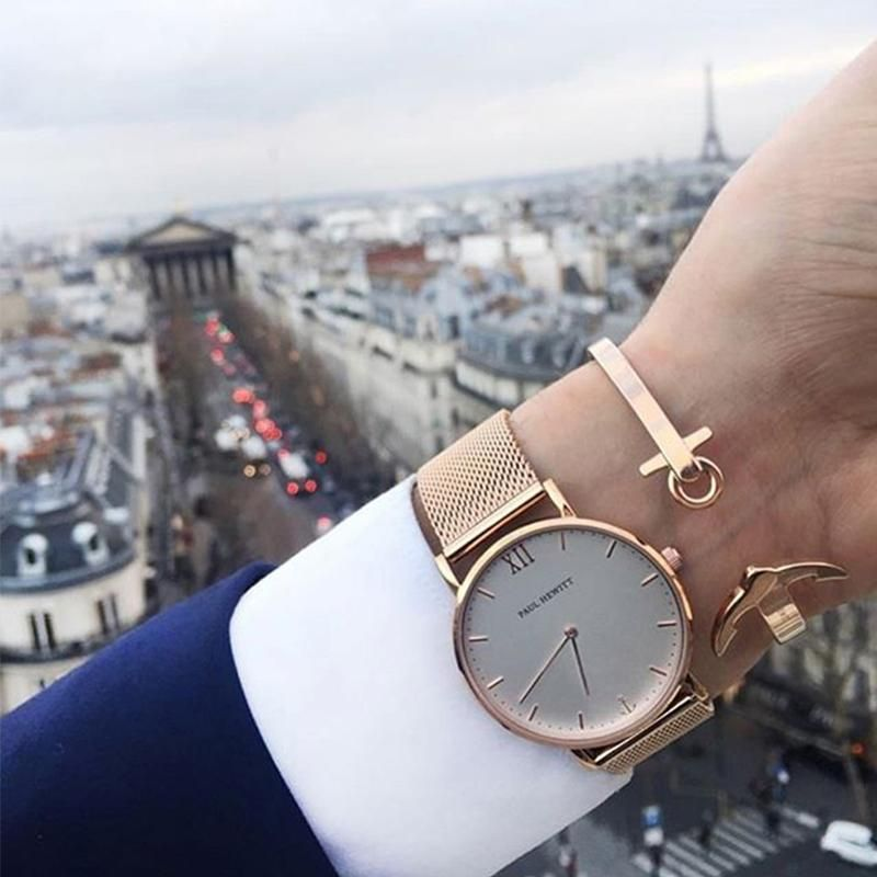 New Paul Hewitt Brand Women Men Simple Analog Quartz Watches Stainless Steel Wristwatch Buyincoins Com Watches For Men Quartz Watch Wrist Watch