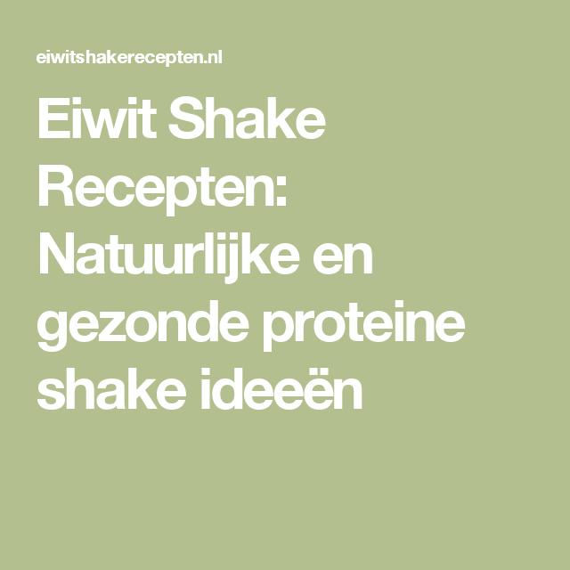 natuurlijke proteine shake