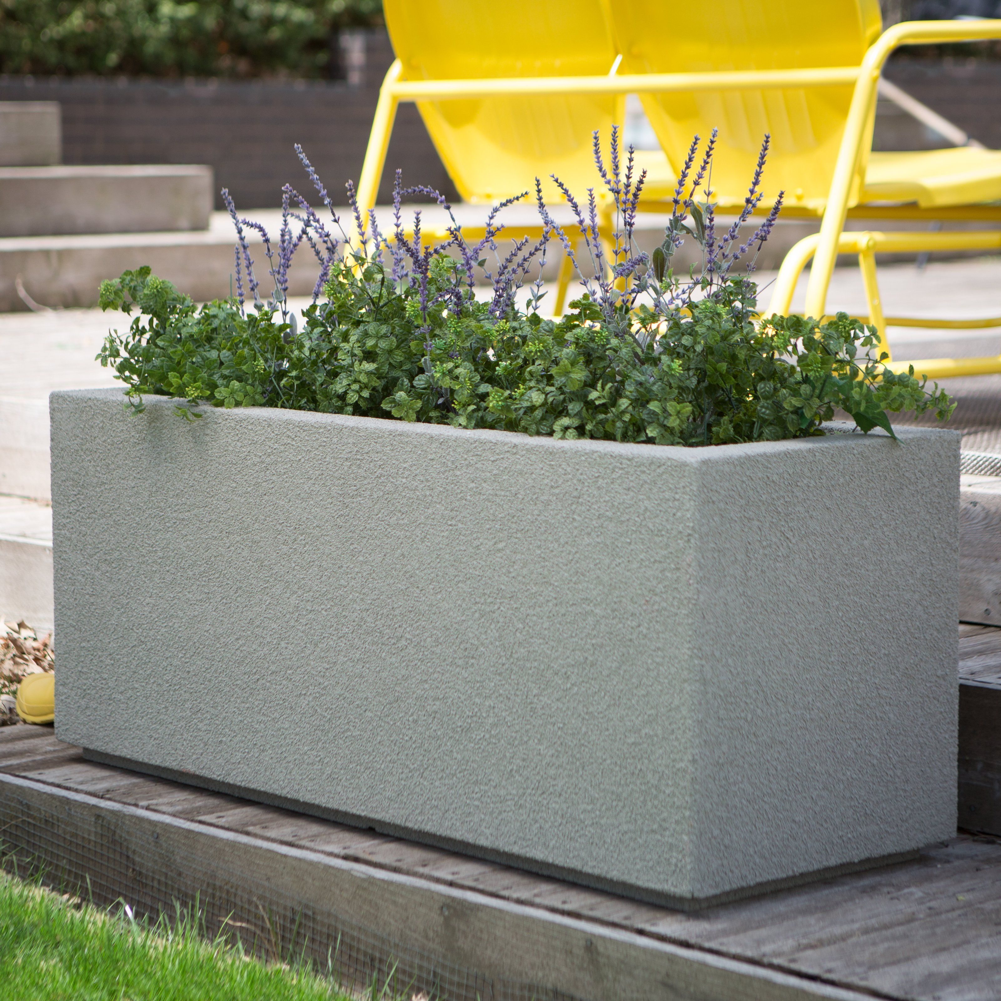 Poly Stone Milan Tall Trough 4 Ft Outdoor Planter From