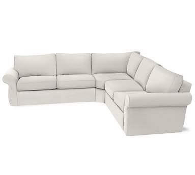 Pearce 3 Piece L Shaped Wedge Sectional Slipcover Organic