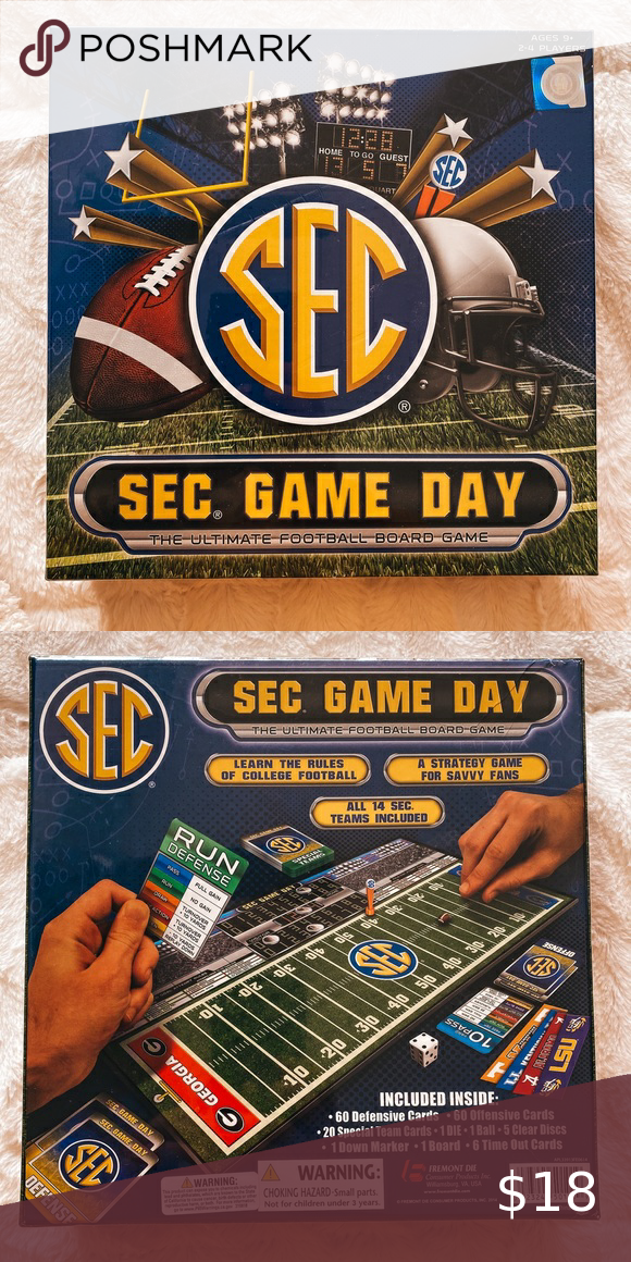 I just added this listing on Poshmark SEC Game Day Board