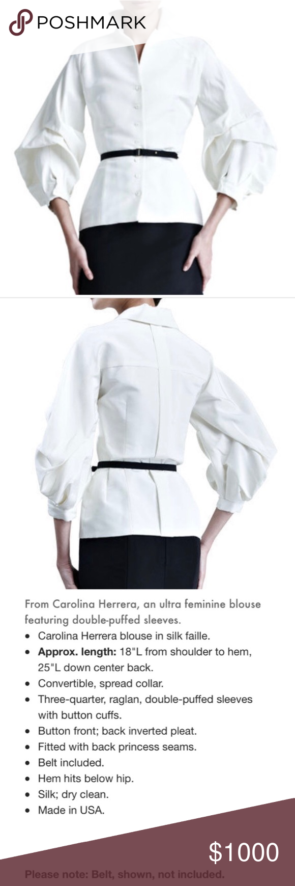 3 4 sleeve silk saree blouse designs euc carolina herrera silk faille blouse worn once and dry cleaned