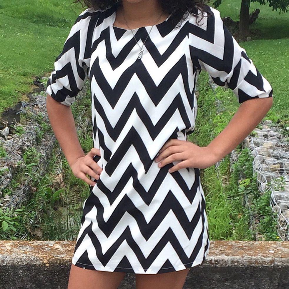 Black & White Chevron Dress