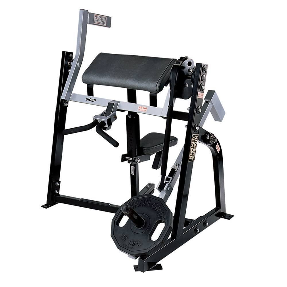 Hammer strength bicep curl plate loaded hammerstrength