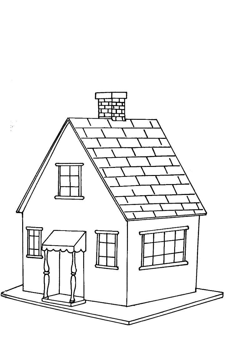 Childrens coloring house - House Coloring Pageskidsfreecoloring Net Free Download Kids Coloring Printable