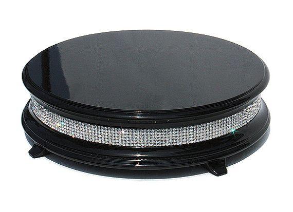 16 Inch Piano Black Diamond Cake Stand