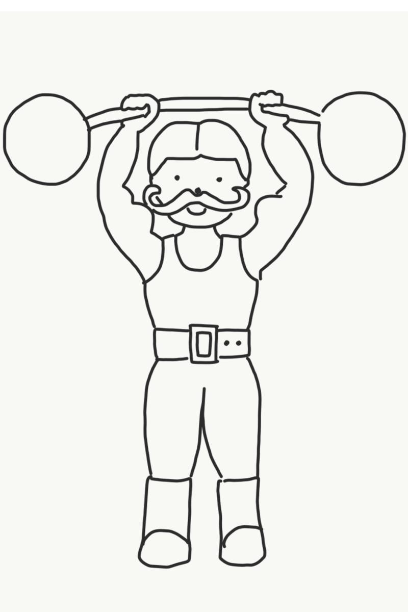 Gewichtheber Bild Zum Ausmalen Bilder Zum Ausmalen Ausmalen Ausmalbilder