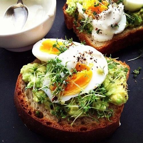 Тост с авокадо: завтрак Manhattan style | Завтрак с ...