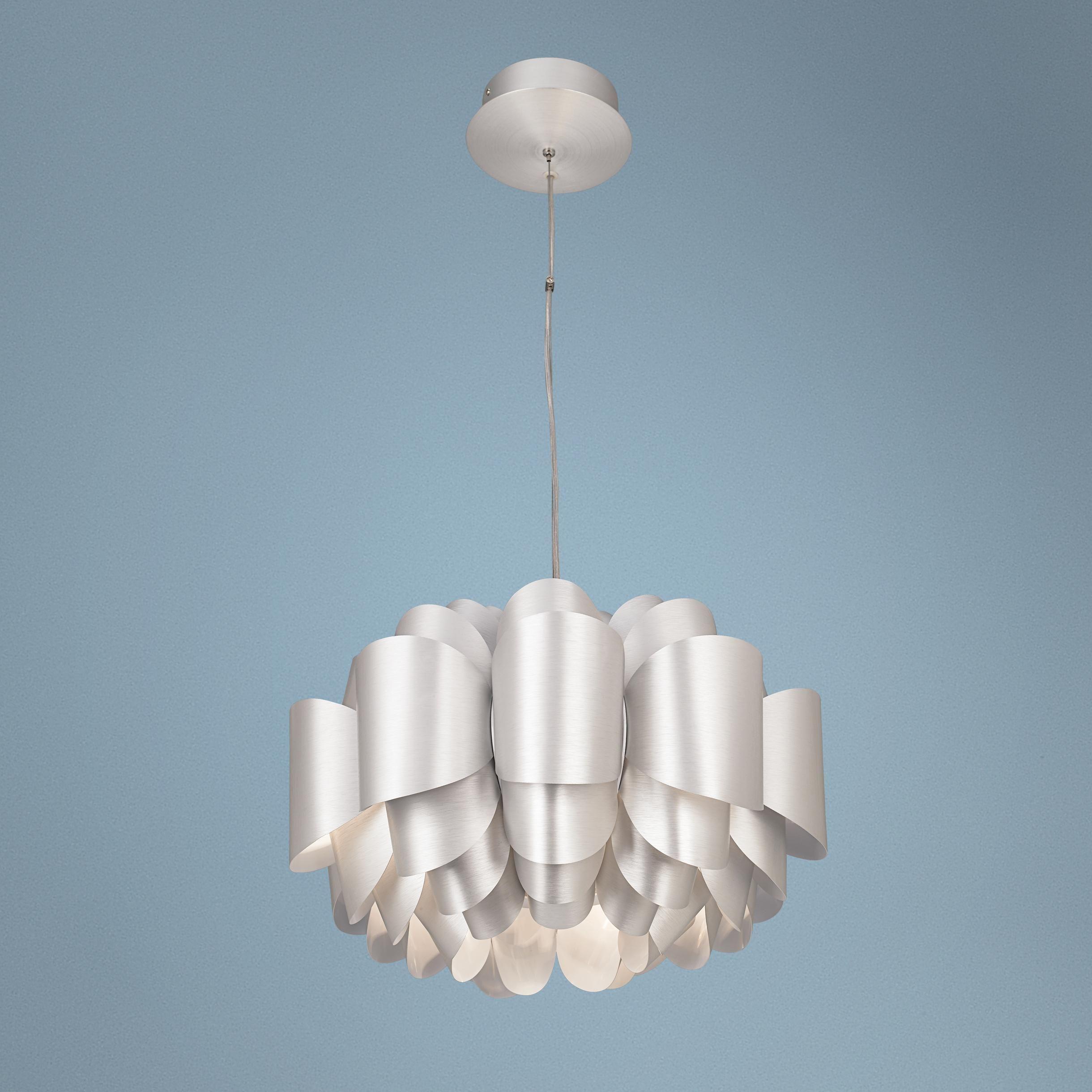 dining room chandelier possini euro design aluminum lotus pendant light