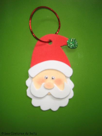 Adorno navideño de Papa Noel realizado con goma eva. | navideñas ...