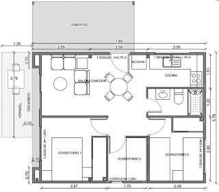planos de casas 62 m2