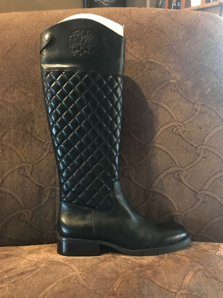 90c0f4321e3 vince camuto boots quilted black leather tall 8.5 M #fashion ...
