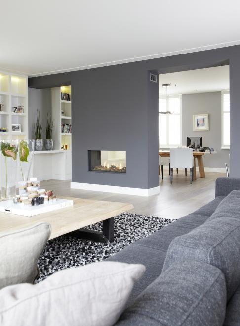 Grau-weißes Wohnzimmer mit Kamin ♥ Wohnung Pinterest Living - wohnzimmer ideen kamin