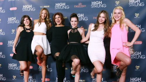 Celebs wearing Sally Miller Couture on the Red Carpet at the High Strung Movie LA Premiere! #sallymiller