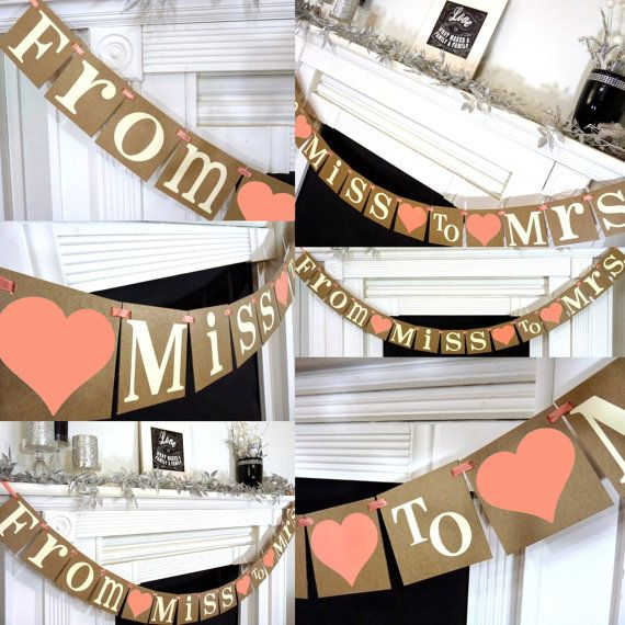 Wedding Banner Decoration From Miss to Mrs by BannerCheer