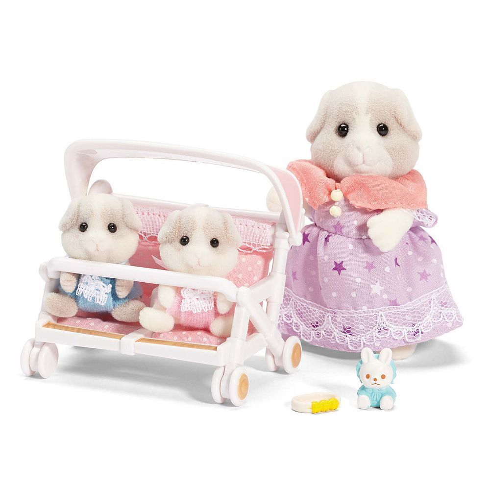 Calico Critters Patty & Paden's Double Stroller Set Baby