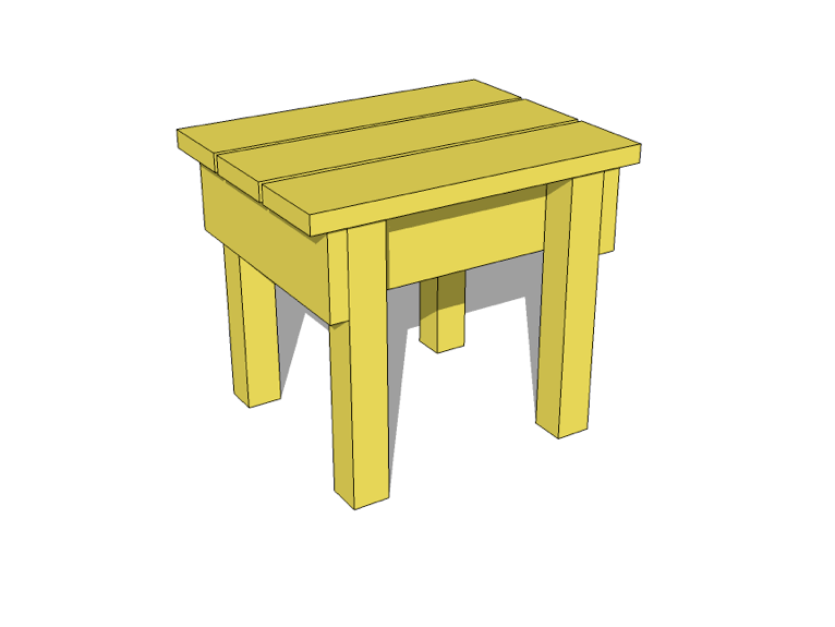 Small Wood Stool Tutorial