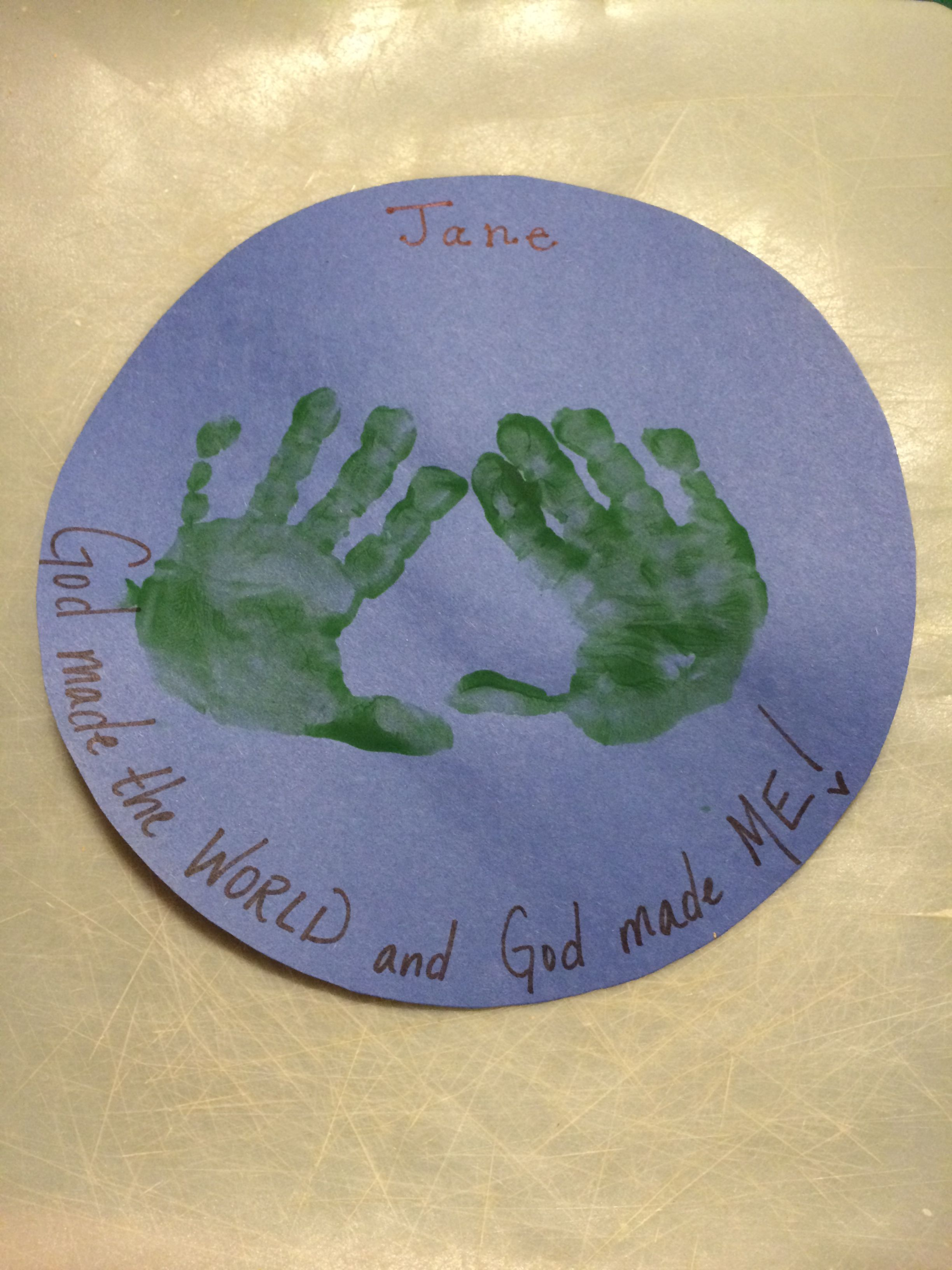 Sweet Little Craft For Our 2 And 3 Year Olds Lesson On Creation