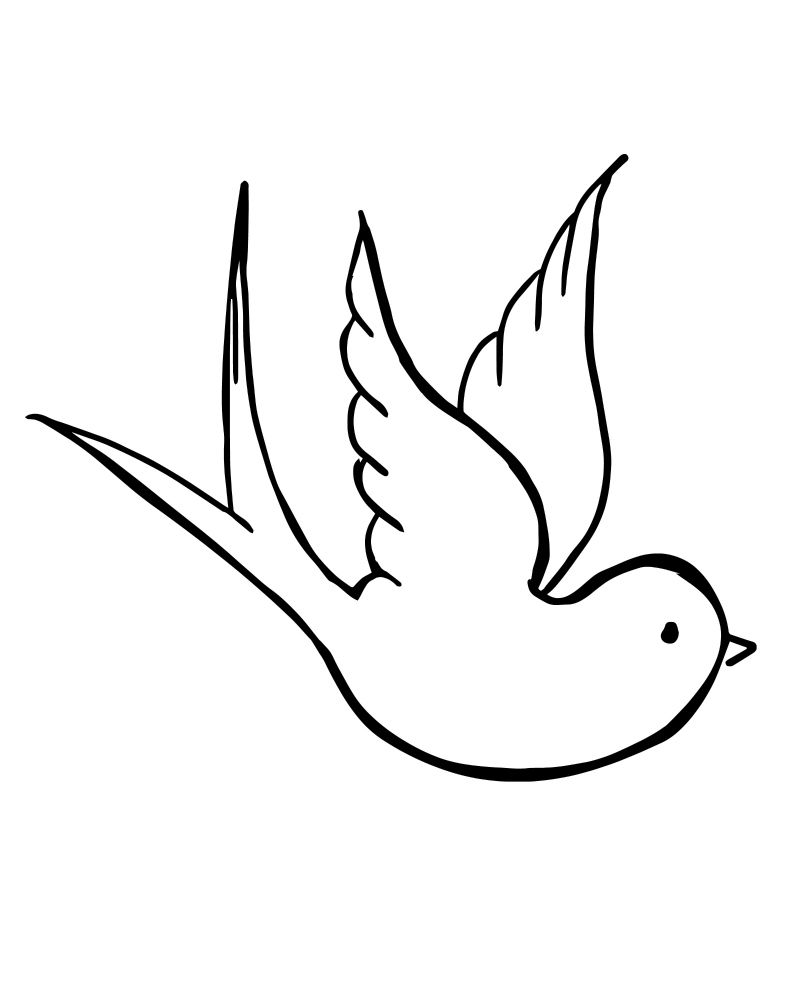 Printable Dove Coloring Page | Printable Coloring Pages, Crafts ...