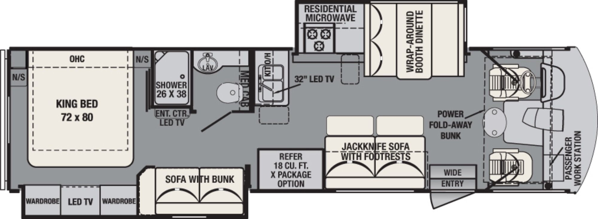 2017 Forest River Fr3 32ds Camping World Of Kingston 1342398 Forest River Rv Forest River Rv Floor Plans