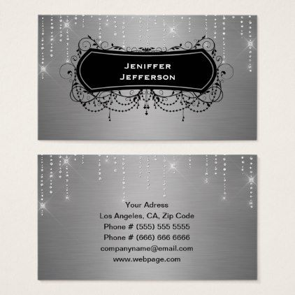 Elegant sparkles glitter business card elegant sparkles glitter business card business template gifts unique customize diy personalize reheart Image collections