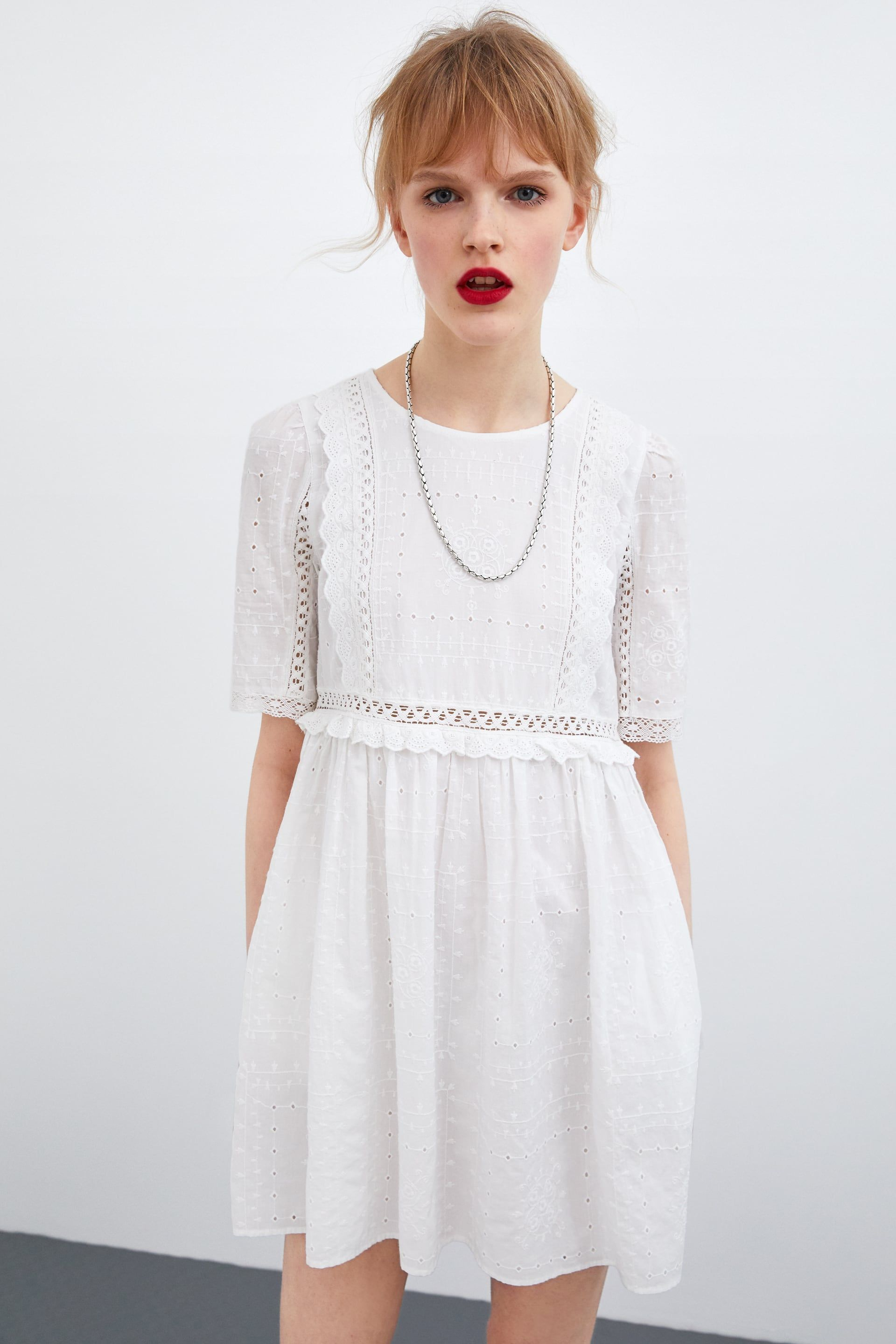 OPENWORK EMBROIDERY DRESS - View all-DRESSES-WOMAN  ZARA United