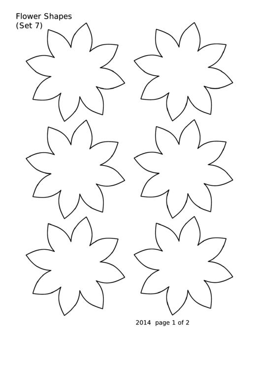 Flower Shapes Set 7 Template In 2021 Paper Flower Patterns Flower Shape Paper Flowers
