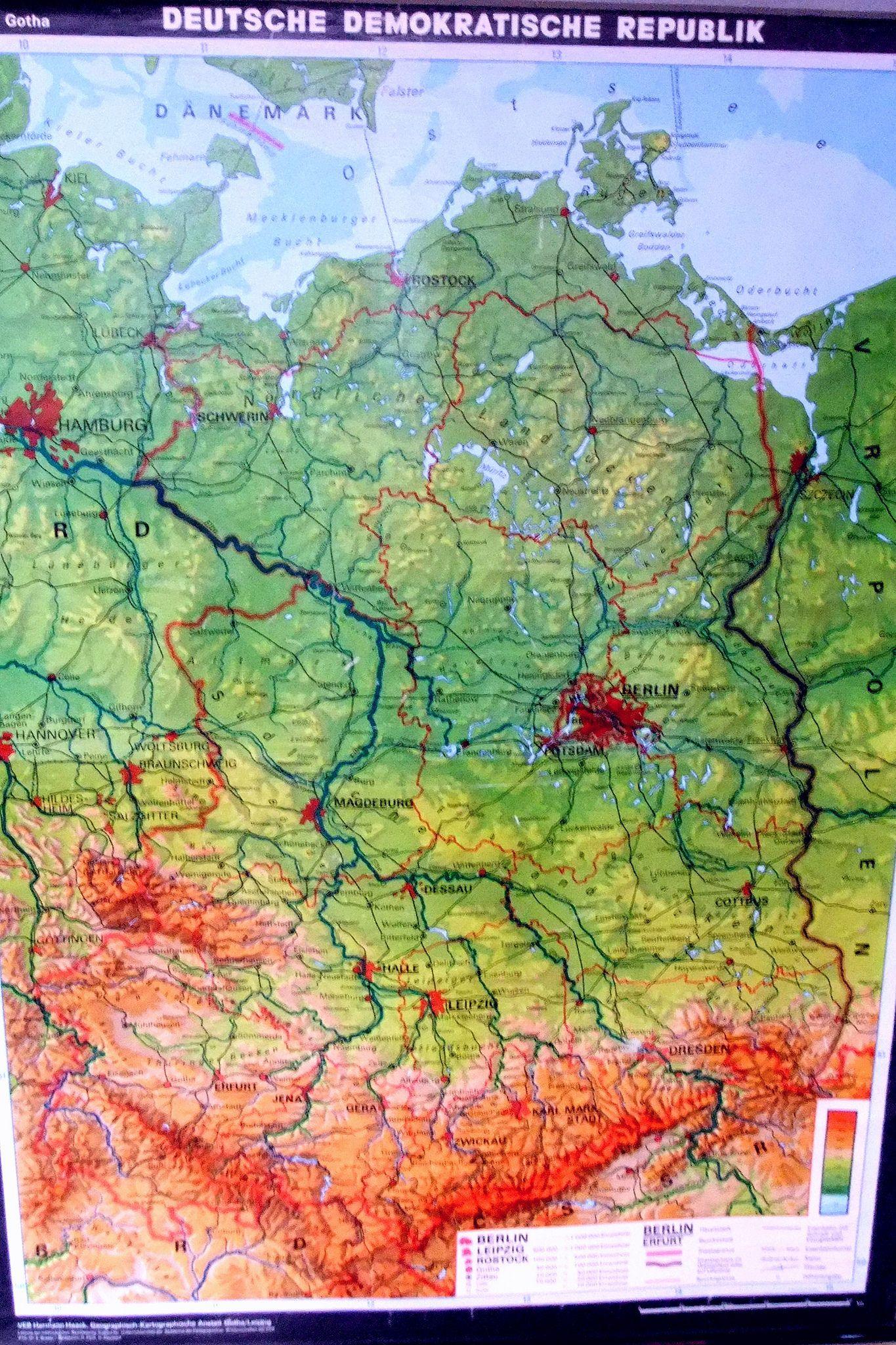 Ddr Schul Karte Der Deutschen Demokratischen Republik Ddr Museum Painting Photo Art
