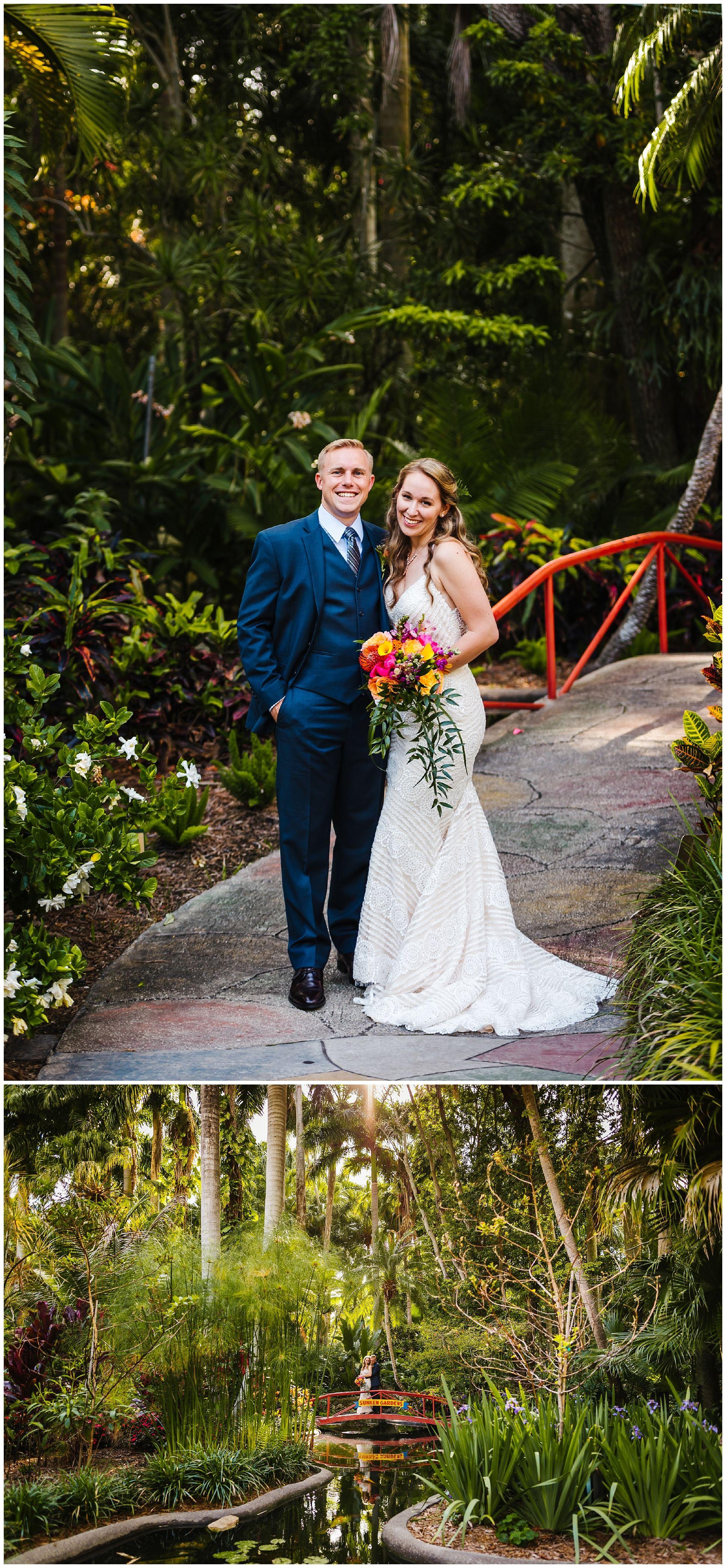 Bright Sunken Gardens Wedding Wedding, Sunken garden