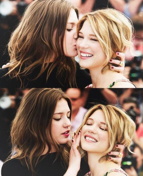 Best Buds In Real Life Lea And Adele Blue Is The Warmest Colour