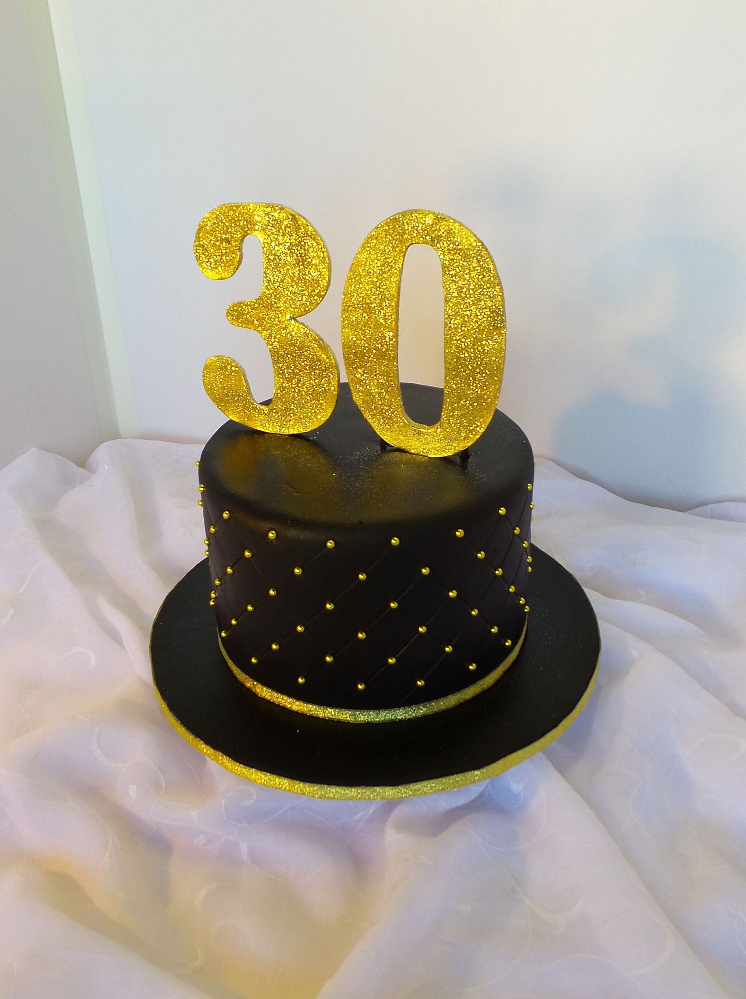 Black And Gold 30th Birthday Cake In 2019