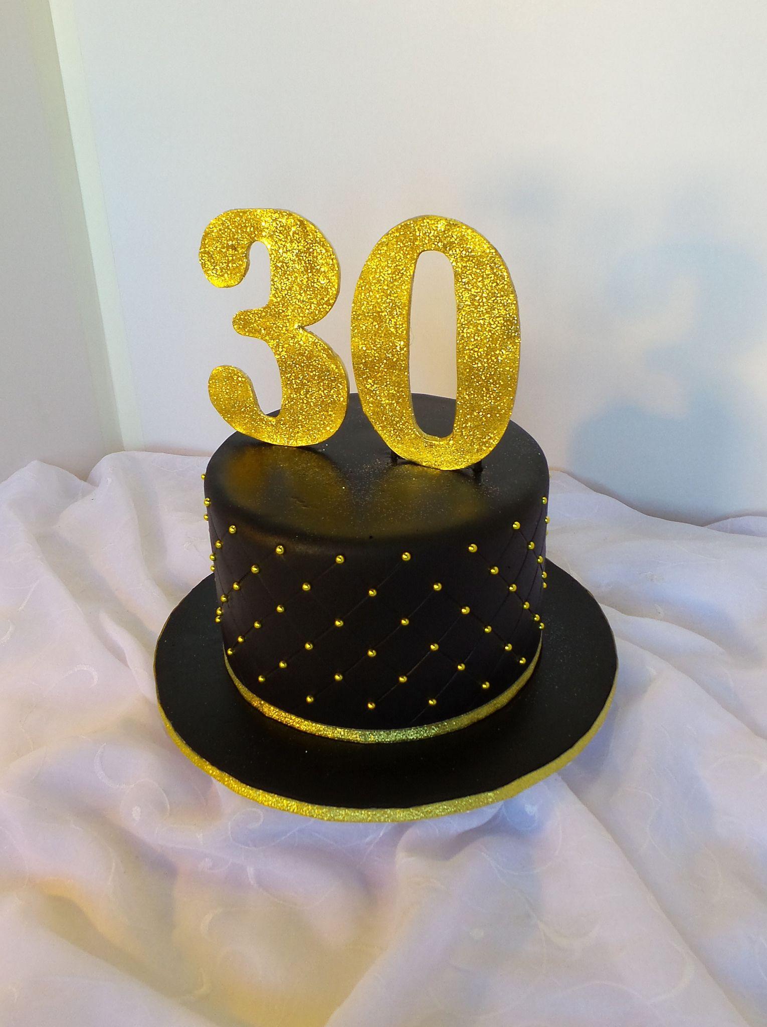 Black And Gold 30th Birthday Cake Black And Gold Birthday Cake