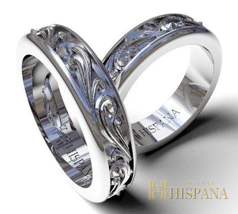 f4efdaf6db59f Argollas de Matrimonio Ref AR1 Oro Blanco