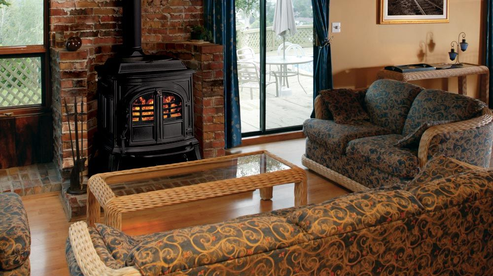 A large wood stove, Vermont castings is one of the best and well known  brands - A Large Wood Stove, Vermont Castings Is One Of The Best And Well