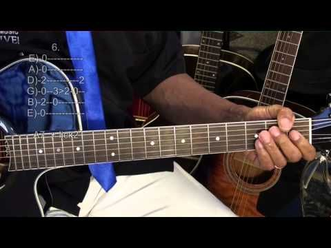 Single Chord Slow Blues Prt1 Old School 12 Bar Blues Guitar Lesson ...