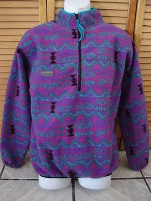 Vintage Columbia Half Zip Fleece Pullover | Fashion | Pinterest ...