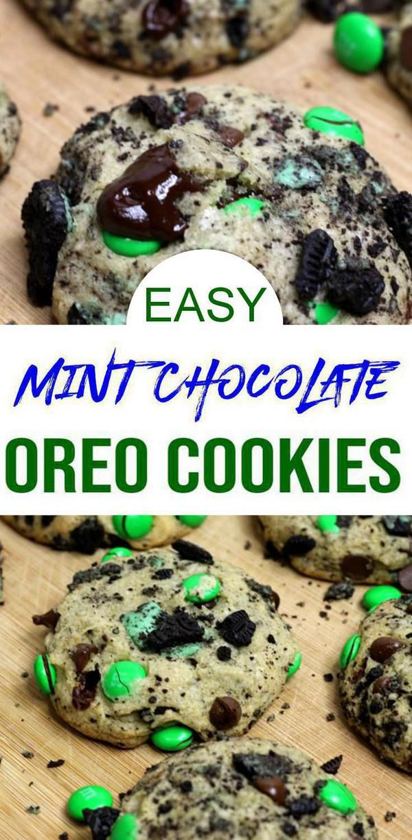 Mint Oreo Cookies! BEST Mint Chocolate Oreo Stuffed Cookie Recipe – Sweet Treats – Dessert Recipes #quickcookierecipes
