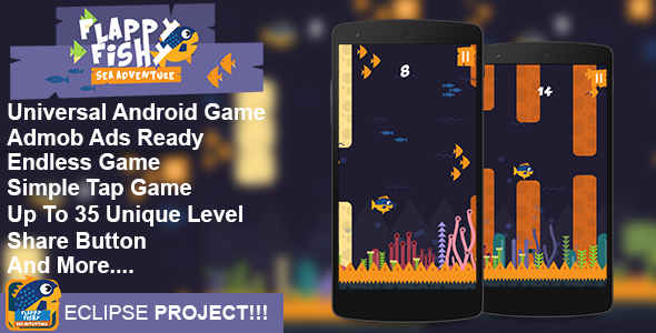 Flappy Fish Flappy Game Android Game Template Eclipse