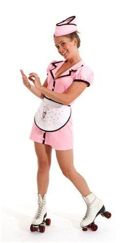 bbebfed7cfe0 Details about Betty Lou 50's Car Hop Soda Shop Diner Waitress Sock ...