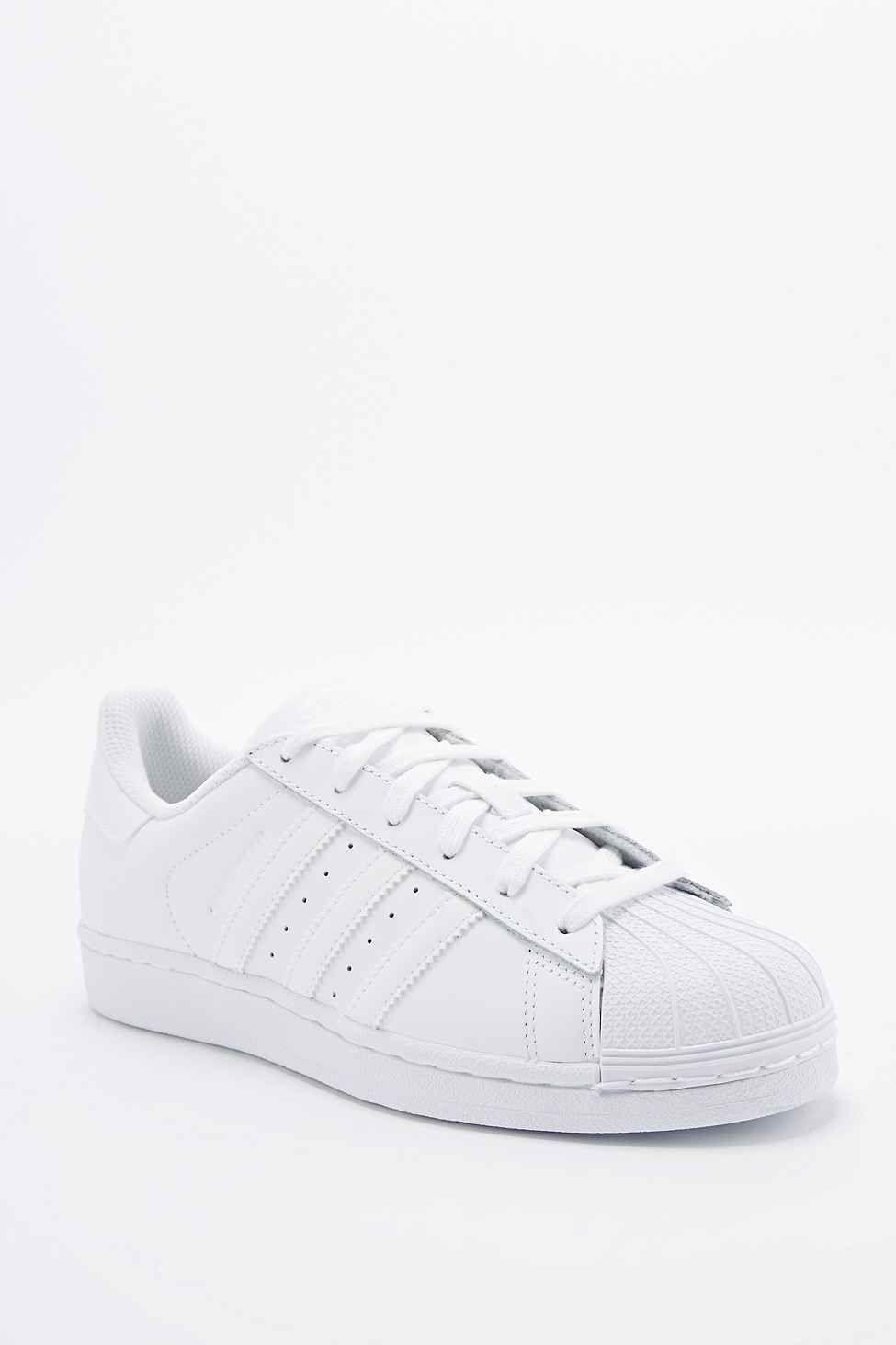 Adidas Originals Superstar 80s All White Trainers Adidas Superstar Weiss Adidas Superstar Sportmode