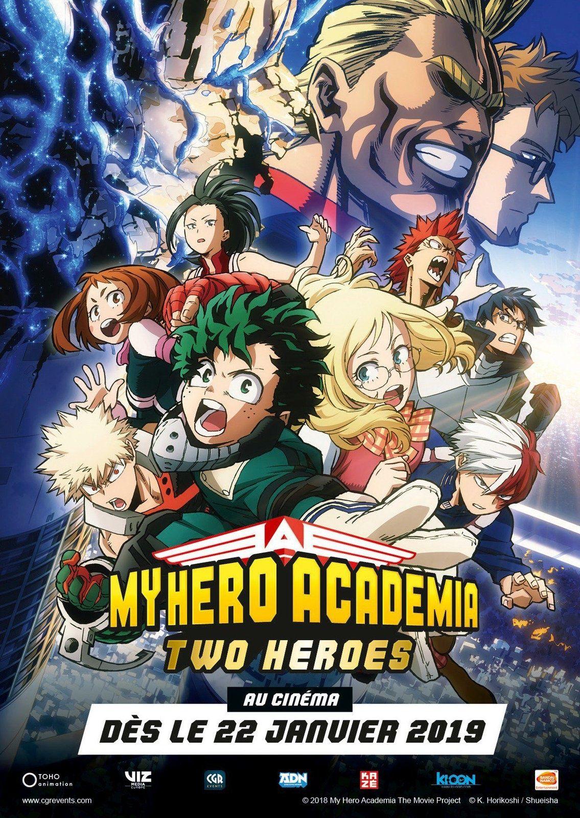 MyHeroAcademia Two Heroes au cinéma a partir du 22