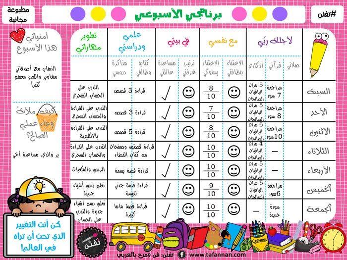 تفن ن فن ومرح بالعربي أسبوع طفلتي ماذا نفعل وكيف ملأنا معا برنامج تفن ن Kids Planner Islamic Kids Activities Kids Discover