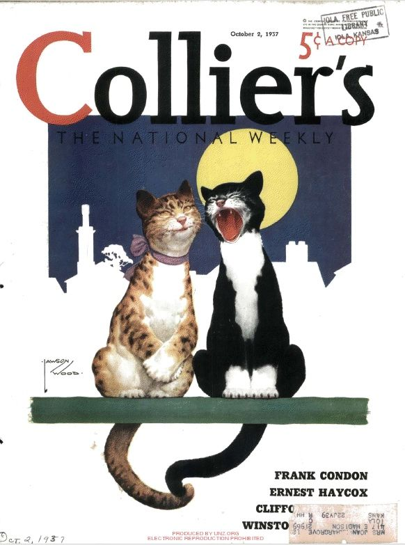 """Collier's Weekly"" magazine (October 2, 1937) - Cover by Lawson Wood"